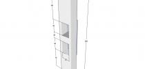 Progetto di Colonna Vetrina 40x25