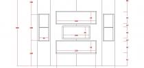 Progetto di Nicchie a 5 fori parete 300x300